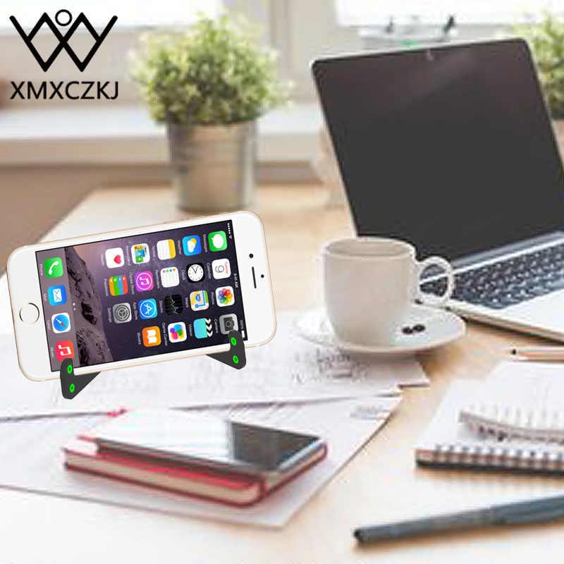 XMXCZKJ Universal V Forme Mains Libres En Plastique Table De Bureau Pliable Téléphone Mobile Tablet Stand Support De Support Pour Mobile Téléphone Stand