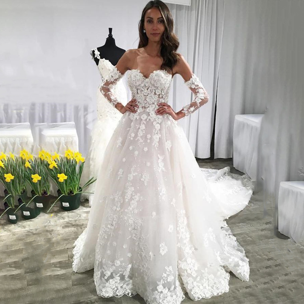 Cathedral Length Train Wedding Gowns: Aliexpress.com : Buy Sweetheart White Wedding Dresses Lace