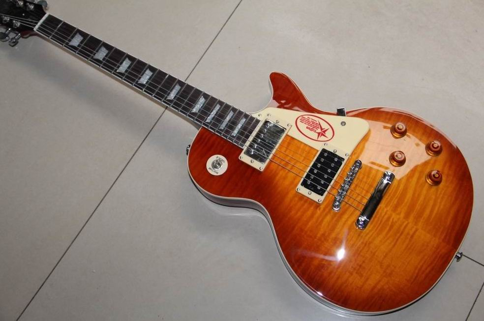 Wholesale New LP Jimmy Page Number Two VOS  electric guitar in Sunburst 130225 цены онлайн