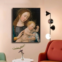 Laeacco Canvas Painting Raphael Posters and Prints Madonna Child, The Tempi Wall Artwork Living Room Home Decoration