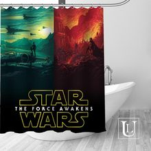 Waterproof Bathroom Curtains Modern Star Wars Shower Curtain Polyester Bath Screens Customized CurtainChina