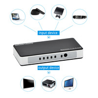 Professional 4 Port HDMI Splitter 1 In 4 Out Audio Video 4K 2K HDMI Splitter Amplifier
