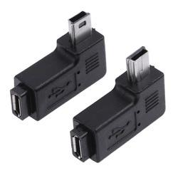 2 шт./компл. l-образный Micro USB гнездовой левый и правый угол 90 градусов Мини USB Мужской адаптер Разъем для зарядки конвертер
