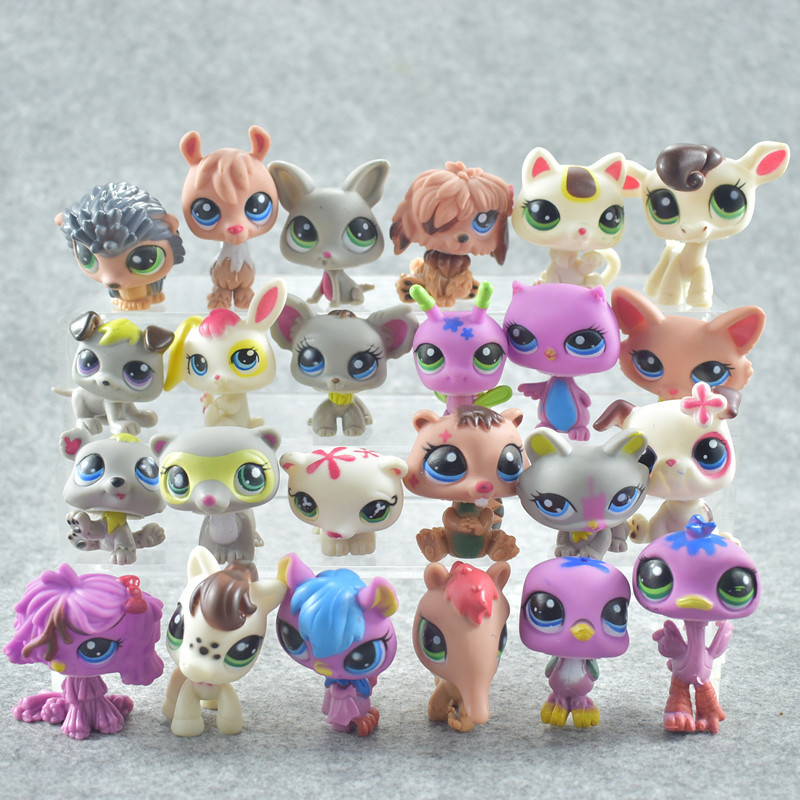 24Pcs/Set LPS Animal Standing Cat Little Pet shop Mini Toys Action Figures toys for kids цена