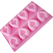 8 Grids Fondant Cake Mold Heart Mousse Silicone Molds For Baking Chocolate Moulds Cake Decorating Tools aya star chocolate cake molds for baking
