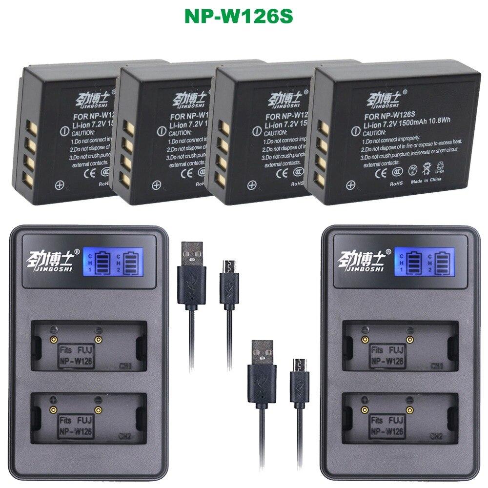 USB-Charger per Fuji NP-W126//Finepix X-A1 X-E1 X-E2 X-M1 X-Pro1 HS30EXR.