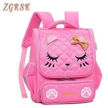 Child Cute Kitten School Back Pack Bags For Girls Cartoon Children Backpack High Quality Nylon Backpacks Bagpack