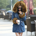 Winter Jacket Women Denim Parkas For Women Winter Warm Women's Cothing Cotton Fur Coats Jackets Hoodies Outwear Jaquetas C1467