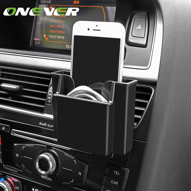 Onever car styling car storage box air vent clip organizer business onever car styling car storage box air vent clip organizer business cardphone holder colourmoves Images