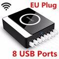 Настольное Зарядное Устройство 8 Порта USB Мобильный Телефон Аксессуары Ци Беспроводное Зарядное Устройство Для Мобильного Телефона Мульти Телефонов Зарядное Устройство Ес