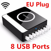 Wireless Charging 8 USB Ports Cargador Movil Wireless Charger For IPhone 5 Xiaomi IPad Power Bank