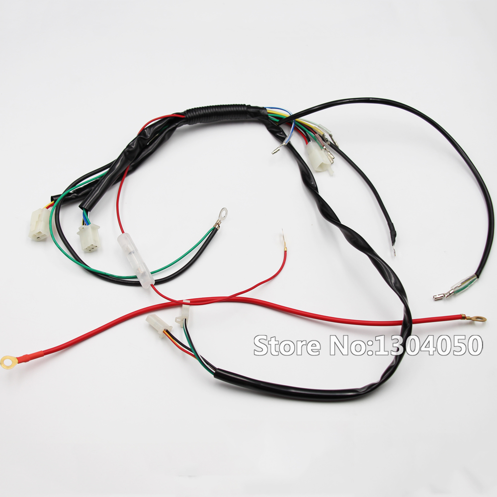 PIT DIRT BIKE WIRING LOOM HARNESS FOR ELECTRIC START 50cc 70cc 90cc 110cc 125cc 140cc PITBIKE image