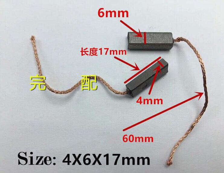 Escova de carbono do regulador do gerador do veículo do carro elétrico para o alternador novo de bmw benz de jetta santana de vw (tamanho: 4*6*17mm)