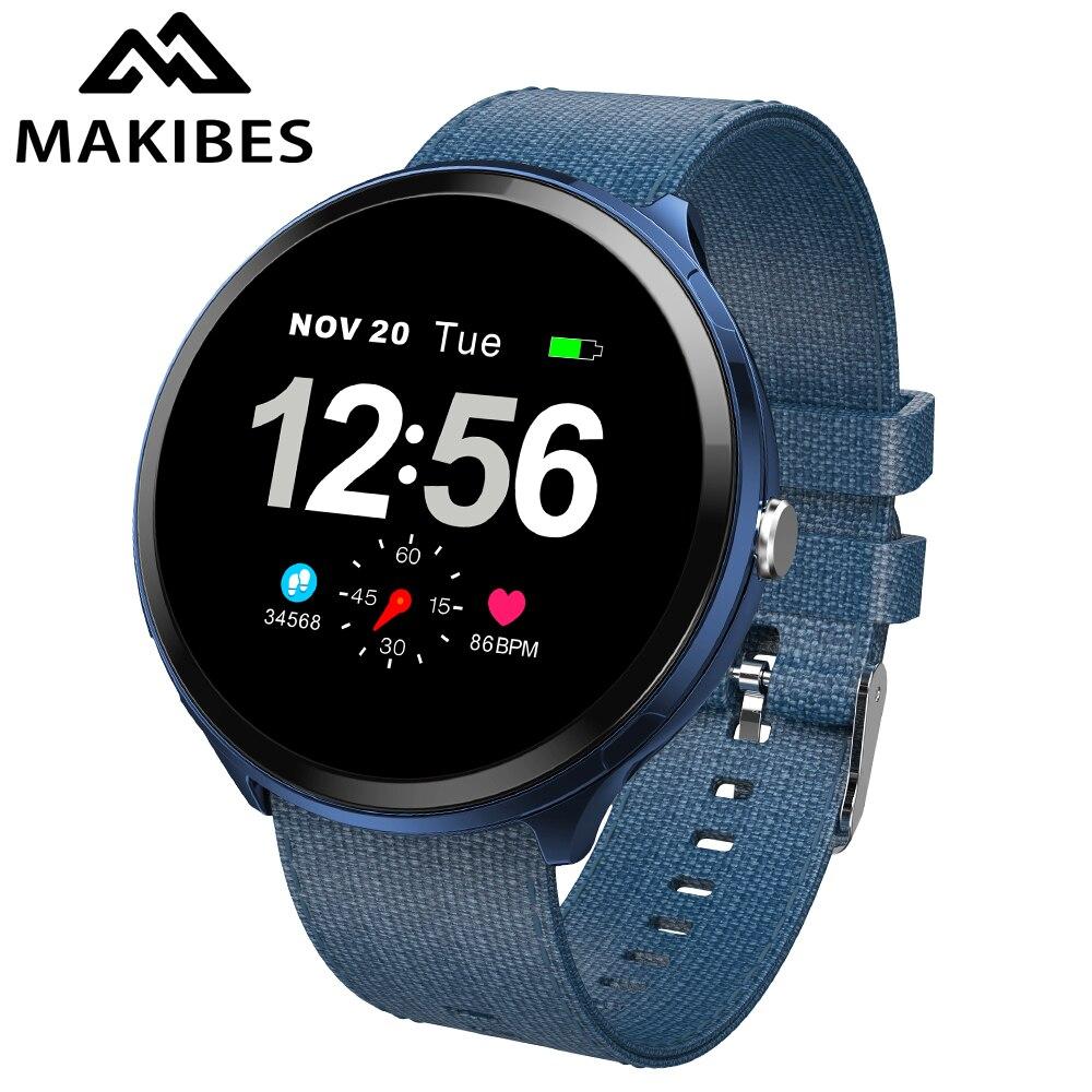 Makibes T4 pro hommes montre intelligente étanche verre trempé bande intelligente mode Fitness Tracker sang oxygène PK V12 Bracelet