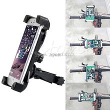 Universal Motorcycle MTB Bike Bicycle Handlebar Mount Holder Band For Cell Phone Z09 Drop ship