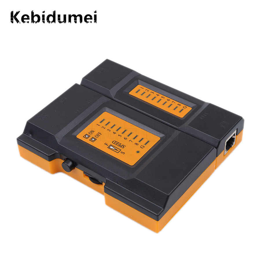 Kebidumei CY-468A Mini Pro Network Cable Tester Network Cable Tester Detector Verify LAN Tester Detector Telephone Cables Newest