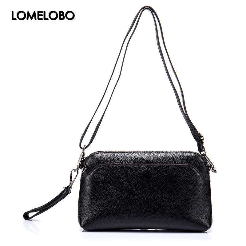 Lomelobo Female Genuine Leather Shoulder Bag Lady Small Hobos Bag Women s Simple Crossbody Handbag Designer