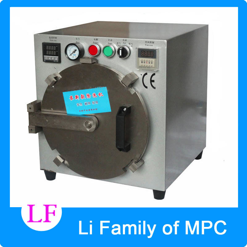 2017 Third Generation Mini Autoclave OCA LCD Bubble Remove Machine for Glass Refurbishment without screws locked autoclave bubble remover oca adhesive sticker lcd air bubble remove machine air compressor glass refurbishment cellphone
