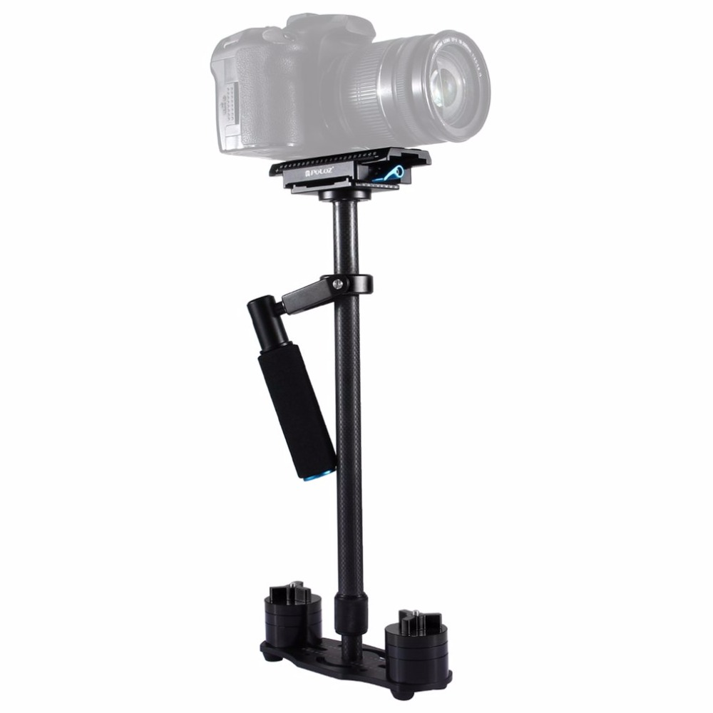 Puluz Carbon Fiber Handheld Stabilizer for SLR Camera Video Camera Shock Absorbers With Small Stanisan Shock Absorbers Drop ship