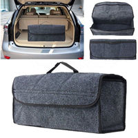 Car Trunk Box Storage Bag Portable Car Seat Back Rear Travel Organiz Storage Collapsible Tool Bag Holder Rear Accessories