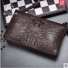 Cheap gete Real alligator leather men handbag man large-capacity clutch bag business bag crocodile man bag