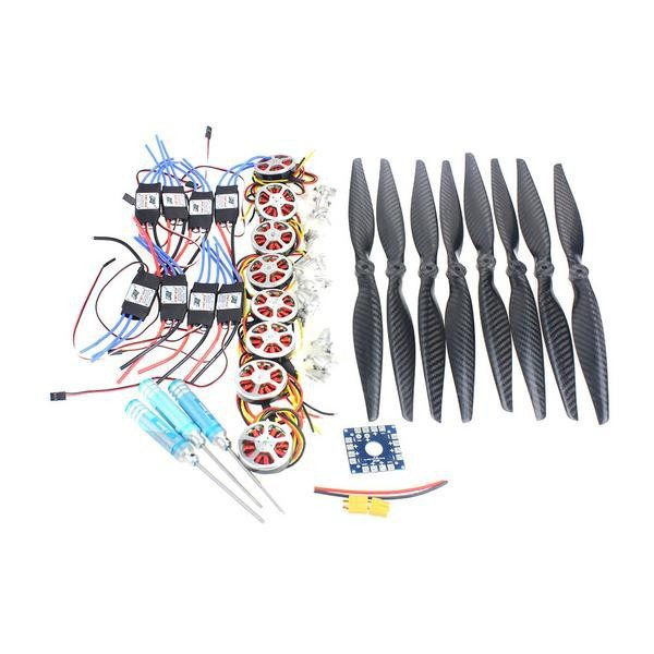 F05423-E Foldable Rack RC Helicopter Kit KK Connection Board+350KV Brushless Disk Motor+15x4.0 Propeller+40A ESC 40a brushless esc 14x4 7 3k cf propeller cw ccw 1447 350kv brushless motor esc connection board xt60 t plug y05307 c