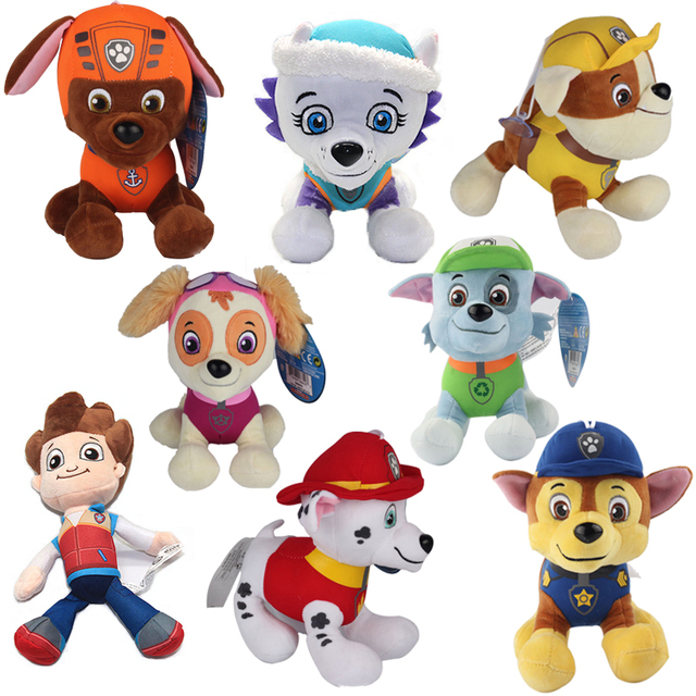 20 30cm Canine Patrol Dog Toys Russian Anime Doll Action