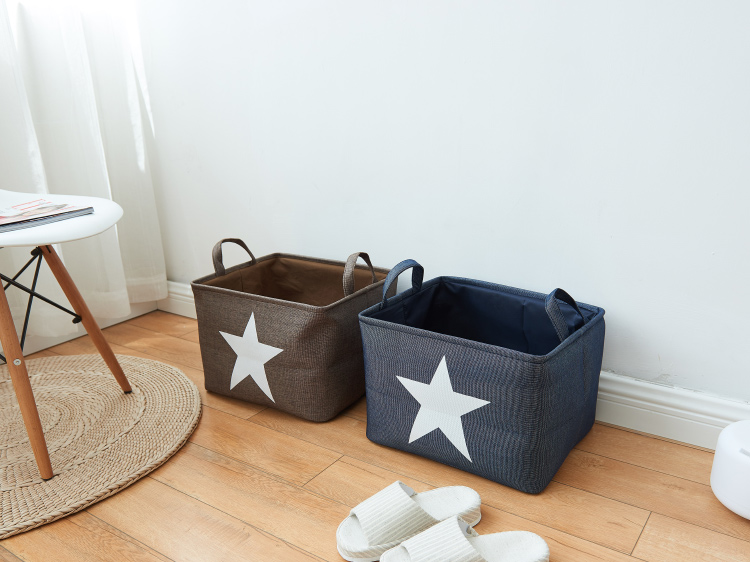 buy dunxdeco home office storage container laundry basket modern nordic star linen cotton box decoration from reliable decorative