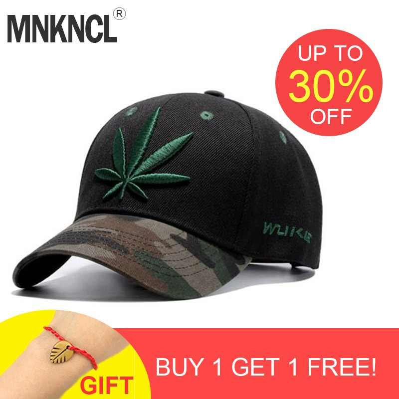 a176a7800f154 2017 New Fashion Embroidery Maple Leaf Cap Weed Snapback Hats For Men Women  Cotton Swag Hip