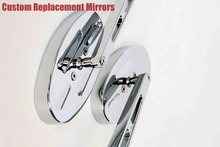 motorcycle parts Billet Alloy Custom Mirror  Ninja 500 All year models OVAL Shape