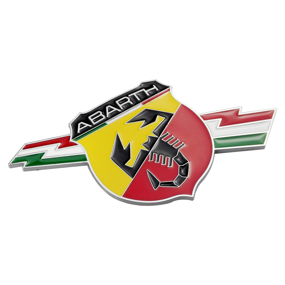 Car Accessories Italy Flag Metal Body Emblem Rear Trunk Badge for Abarth 500 595 Punto 124 Spider Berlinetta Cabrio Zerocento in Car Stickers from Automobiles Motorcycles