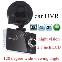 Hot Sale Carcam Night Vision Full HD 1080P K6000 Car DVR Video Camera Recoder Motion Detection