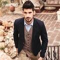 SIMWOOD Марка 2016 Новый Осень Зима Повседневная Пиджаки Мужчины Длина Slim Fit Пиджак Моды Пальто XZ6104