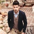 Simwood marca 2016 nueva otoño invierno casual blazers hombres delgados fit traje chaqueta moda abrigos xz6104