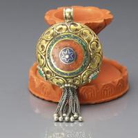 TBP211 Amazing Tibetan Handmade Old Antiqued Big Pendant Tassel Nepal vintage Brass Golden Beads Pendants 76X39mm New Arrival