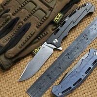 CH 3009 Flipper ball bearing folding knife D2 balde Titanium handle outdoor camping tactical hunting pocket Knives EDC tools