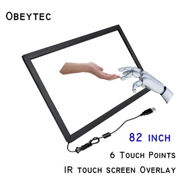Obeytec 82 inch 6 points IR Touch Sensor, Driver Free,without glass, Customize Available, Factory Technical support