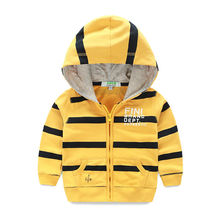 2016 New Boys Hoodies Jacket Youngsters Hooded Sweatshirts Spring Autumn Children Sport Coat Cotton Child Outerwear for 2-Eight years
