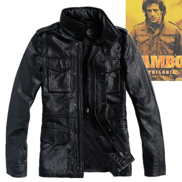 2015 Männer Echte Lederjacken Mit Vier Aufgesetzte Taschen Klassische M65 Armee Jacke Plus Größe Beiläufige Lederjacken Für Männer Xxxxxxl Angenehm Im Nachgeschmack