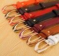 Mujeres Cinturones de Mujer de Moda de Alta Calidad de Cuero Genuino Cinturones Delgados Señoras Hebilla de Metal Correas de Cintura de Las Muchachas Accesorios