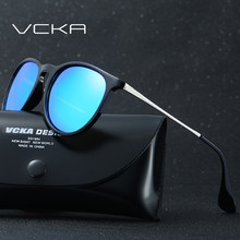 3672487d0a VCKA Sunglasses Women Colorful Frame Cat Eye Sunglasses Men Mirror Half  Frame Oval Lens Brand Designer Fashion Ladies Eyewear