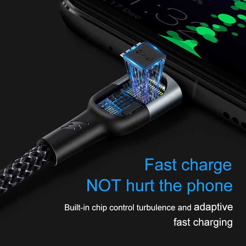 Elough 5A Cáp USB Type C Cho Huawei Mate 30 20 Pro P30 P20 PRO 1 M 2 M Siêu sạc Nhanh Dây Cáp USBC USB Dây Sạc Điện Thoại