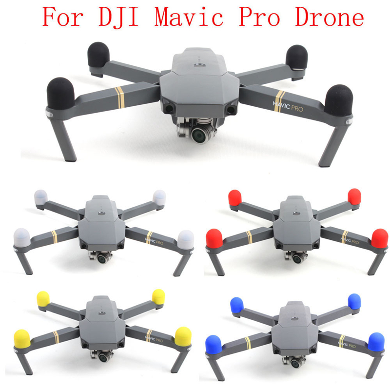For Dropshipping 4Pc Silica Gel Motor Protective Cover Accessories For DJI font b Mavic b font