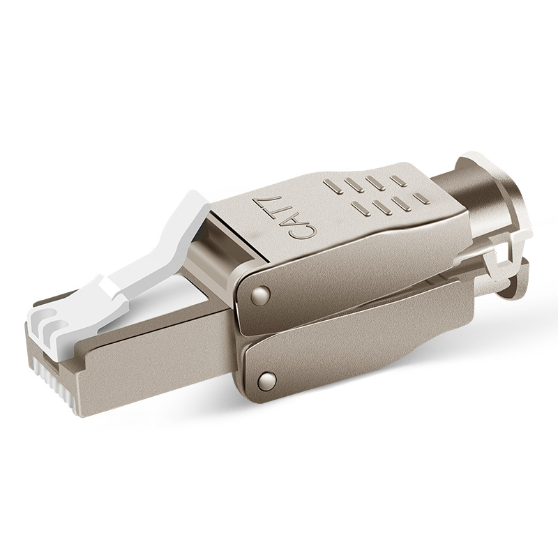 CAT7 blindé cristal tête FTP RJ45 connecteur Métal réseau Module Outil-Livraison Plug Ordinateur câble adaptateur pour 10g ethernet