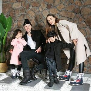 Image 3 - Meninas botas de inverno crianças botas de neve crianças novo design sapatos de natal quente pele de lã natural dentro antiderrapante sola frete grátis