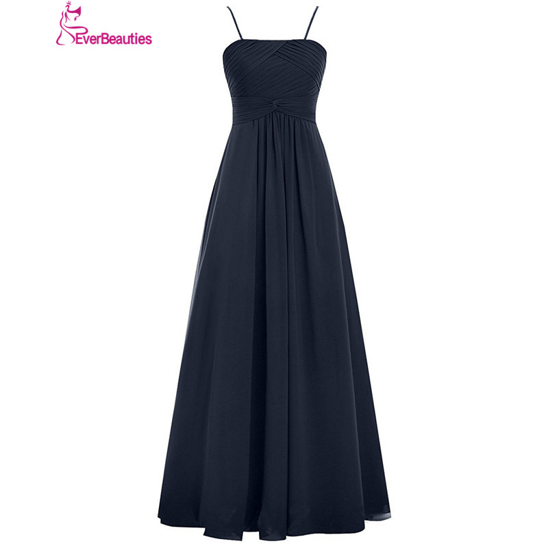 Bridesmaid     Dresses   Long 2019 Chiffon with Thin Straps Vestido Madrinha Longo Wedding Party   Dresses   Robe Demoiselle D'honneur