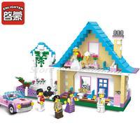 Oświeć Miasto Pokój Małżeństwo Willa Ślubu Pan Młody Księżniczki Zamku Dom Zabaw Zestaw Building Block Zabawki Dla Dzieci Prezent na Boże Narodzenie
