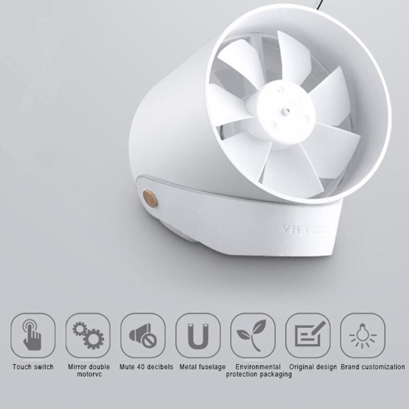Original Mini Fan Portable Fan Usb Mijia Super Quiet Intelligent Touch Xia Cool Double Leaf Desktop Fan