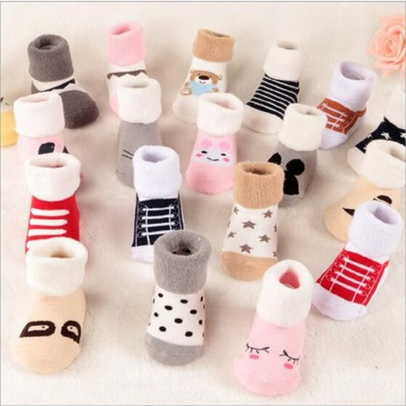 Winter Wear Baby Socks Newborn Floor Socks Kids Cotton Socks 40% Wool Boy And Girl Children Socks Free Shipping