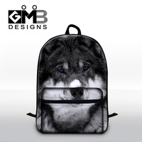 Cool Wolf 3D Pattern School Bookbags For Elementary Students Fashion Backpack For College Childrens Stylish School